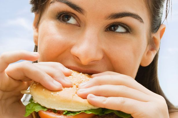 Fat Girl Eating A Hamburger Images & Pictures - Becuo
