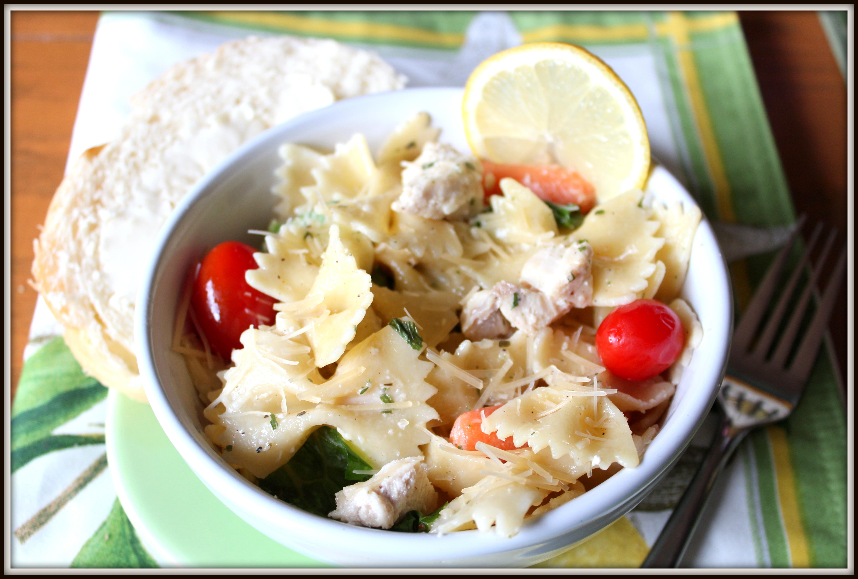 Pasta Salad Recipe Whole Grain Farfalle With Feta Cilantro Salsa